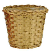 Gold Bamboo Pot Basket (24 Pc)