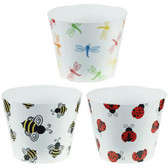 Lady bug, Dragonfly & Bee Pots (12 Pc)