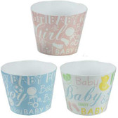 Baby Themed Blue, Pink & Multi Colored Pots (24 Pc)