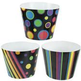 Dots, Stripes, and Diagonals Pots (lg size) (12 Pc)