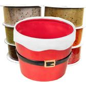 Santa Pots and Ribbon Combo (24 Pc)