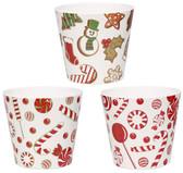 Christmas Candy Melamine Pots (24 Pc)