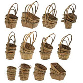 Stained Wicker Baskets (36 Pc)
