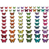Assorted Butterflies on Wires (144 Pc)