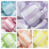 #9 Wired Candy Stripe Ribbon and #9 Wired Bright Check Ribbon Bundle (12 pc)
