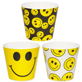 Smiley Faces Melamine Pots (24 Pc)