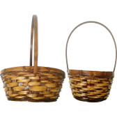 Stained Rattan Baskets (20 Pc)