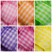 #9 Wired Vintage Check Ribbon (6 Pc)