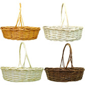 Oval Willow Baskets (16 Pc)