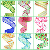 #9 Bright Printed Ribbon (18 Pc)