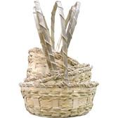 White Washed Baskets (20 Pc)