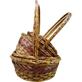 Stained Braided RattanBaskets (20 Pc)