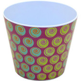 Swirl Dots Round Pots (24 Pc)