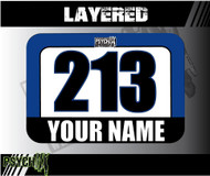 ATV Number Graphics | Layered Design