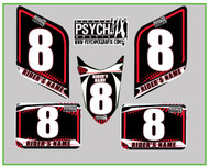 ATV Number Graphics | Psych Design | Red