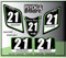 ATV Number Graphics Sticker Set / PsychMxGrafix / Layered Graphics / Black, Kawi Green & White