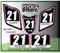 ATV Number Graphics Sticker Set / PsychMxGrafix / Layered Graphics / Black, Pink & White