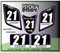 ATV Number Graphics Sticker Set / PsychMxGrafix / Layered Graphics / Black, Purple & White
