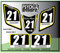 ATV Number Graphics Sticker Set / PsychMxGrafix / Layered Graphics / Black, Suzuki Yellow & White