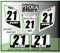 ATV Number Graphics Sticker Set / PsychMxGrafix / Layered Graphics / White, Kawisaki Green & Black