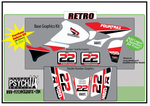 Retro Honda 450R / 250R Graphics  from PsychMXGrafix