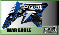 Motorcycle/Dirt Bike Full Graphics | War Eagle Design | Blue/Black