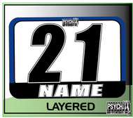 ATV Number Graphics | Layer Design | Blue/White/Black