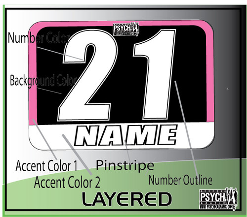 ATV Quad Number Graphics - PsychMxGrafix - Customized Number Plate Graphics / Decals / Stickers - wwww.psychmxgrafix.com