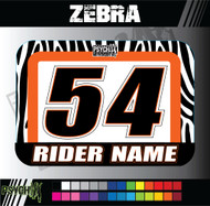 ATV Number Graphics | Zebra Design