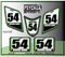 White Kawi Green Black ATV Number Graphics Sticker Set / PsychMxGrafix / Finish Line