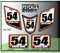 White Orange Black ATV Number Graphics Sticker Set / PsychMxGrafix / Finish Line