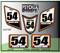 White Orange Black ATV Number Graphics Sticker Set / PsychMxGrafix / Finish Line