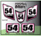 White Medium Pink  Black ATV Number Graphics Sticker Set / PsychMxGrafix / Finish Line