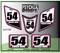 White Medium Pink  Black ATV Number Graphics Sticker Set / PsychMxGrafix / Finish Line