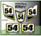 White Suzuki Yellow Black ATV Number Graphics Sticker Set / PsychMxGrafix / Finish Line