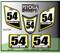 White Suzuki Yellow Black ATV Number Graphics Sticker Set / PsychMxGrafix / Finish Line