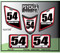 White Honda Red Black ATV Number Graphics Sticker Set / PsychMxGrafix / Finish Line
