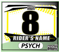 ATV Number Graphics | Psych Design | Suzuki Yellow/White