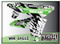 ATV Graphics / www.psychmxgrafix.com / War Eagle Design / White, Kawi Green & Black