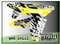 ATV Graphics / www.psychmxgrafix.com / War Eagle Design / White, Suzuki Yellow & Black