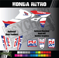ATV Full Graphics Kit | Honda Retro Design|