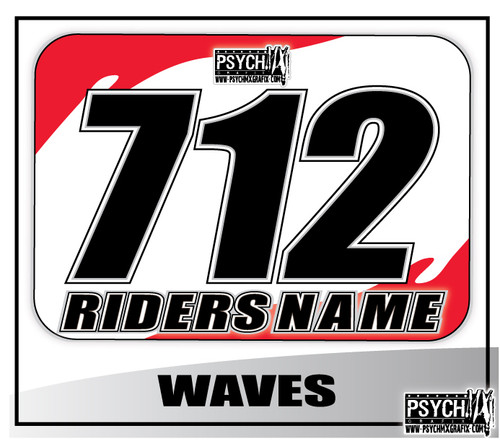 ATV Number Graphics | White Honda Red