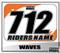 ATV Number Graphics | White KTM Orange