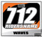 ATV Number Graphics | Black KTM Orange
