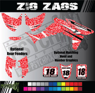 ATV Full Graphics Kit | Zig Zags