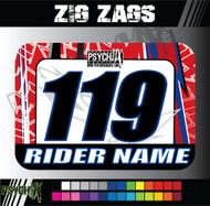 ATV Number Graphics | Zig Zags Design | Red/White/Blue/Black