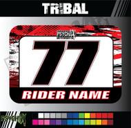 ATV Number Graphics | Tribal Design | Red/White/Black
