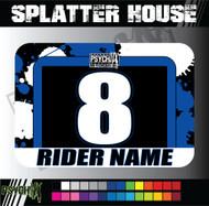 ATV Number Graphics | Splatter House Design | Yamaha Blue/Black/White