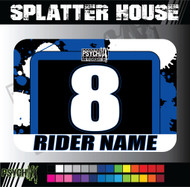 ATV Number Graphics | Splatter House Design | Yamaha Blue/Black/White