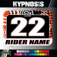 ATV Number Graphics | Hypnosis Design | KTMOrange/Black/White
